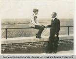 Amelia Earhart and President Elliott at the Purdue airport