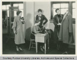 Amelia Earhart with Purdue Home Economics students