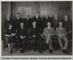 Purdue Board of Trustees with President Elliott, 1937