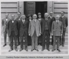 Purdue Board of Trustees with President Elliott, 1925