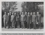 Purdue Board of Trustees with President Hovde, 1945