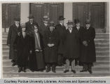 Purdue Board of Trustees with President Elliott, 1928