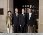 Purdue presidents standing together
