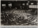 First all-university convocation, Memorial gymnasium, Purdue University