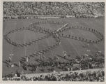 Purdue marching band on football field
