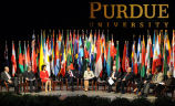Panelists at Purdue's Global University Convocation