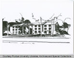 Drawing, fraternity house
