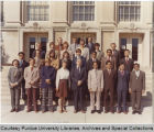 People posing in front of Wetherill Laboratory of Chemistry
