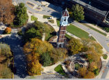Bell Tower, aerial view