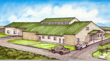Beck Agricultural Center, architectural drawing