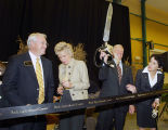 Sonny Beck at ribbon-cutting ceremony for Beck Agricultural Center