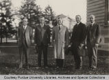Purdue officials at dedication of Horticulture building