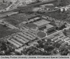 Lynn Hall of Veterinary Medicine, aerial view