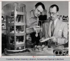 Two Purdue faculty in laboratory