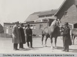 President Elliott and others looking over horse