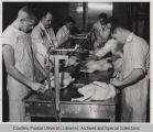 Students in poultry laboratory