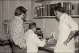 Men working in laboratory