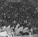 Crowd at basketball game