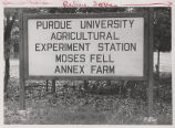 Sign at Moses Fell Annex Farm