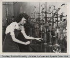 Woman in chemistry laboratory