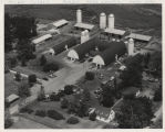 Purdue dairy center, aerial view