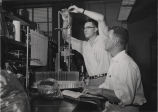 Two men working in laboratory