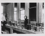 Man in gas laboratory