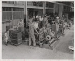 Students in electrical machines workshop