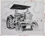 Drawing of tractor