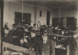 Students in engineering classroom