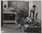Student working in Electrical Engineering lab
