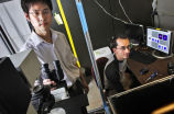 Qingsan Wei and Jacob Hale in laboratory