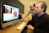 Bart Collins and Steven Witz work on new telehealth model