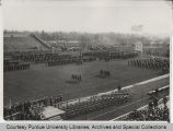 Armistice Day scene at Purdue University