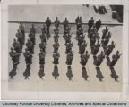 Purdue Drill Team standing at attention