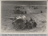 Purdue battery in firing position at inspection