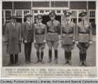 President Elliott and others at military inspection