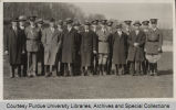 President Elliott and others standing at Armistice Day exercises