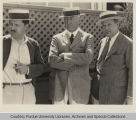 George Ade and two unidentified men