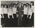 Neil Armstrong with group of women