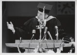 Neil Armstrong speaking at Purdue convocation