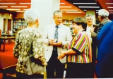 Reception in Purdue Libraries, John W. Hicks Undergraduate Library for Eugene B. Jackson receiving Honorary