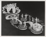 Purdue University 1967 Rose Bowl float drawing