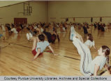 Students in exercise class