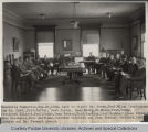 Purdue Executive Committee, seated around table, 1928