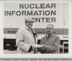 Clifford S. Gerde receiving deed to mobile information center