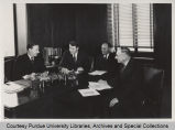Administrative Committee, seated together around table, Purdue University, 1938-1939