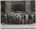 A.A. Potter, standing with others at ASME council meeting