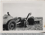 Glen Smith in corn field with agricultural machinery