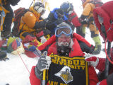 J. Paul Robinson at the peak of Mount Everest